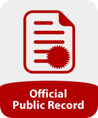Image of a certificate and the words 'Official Public Record'