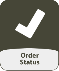 Image of a check mark and the words 'Order Status'