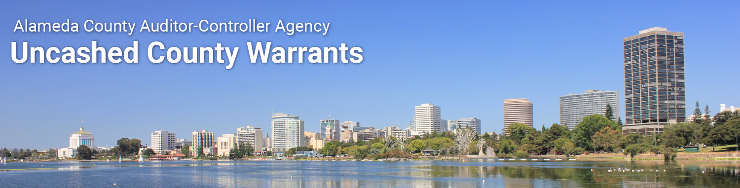 Auditor-Controller Agency Uncashed Warrants