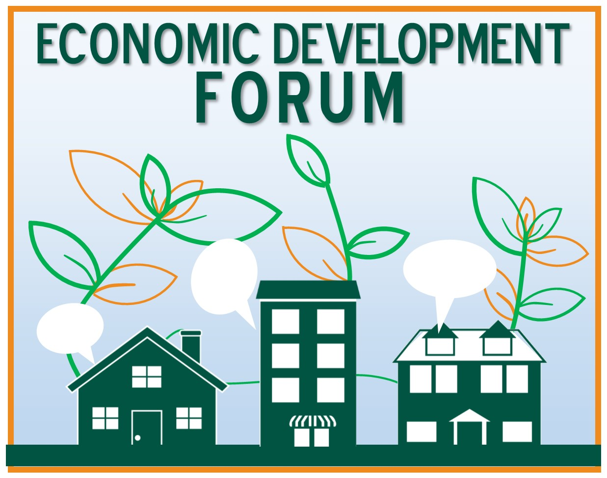 Economic Development Forum Logo, links to Economic Development Forum Page