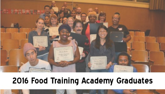 2016 Food Training Graduates