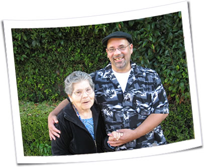 Photo of Nestor and his mother.