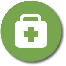 Icon Representing An Emergency Kit