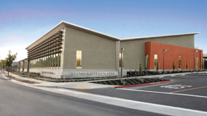 Photo of the new Castro Valley Library.