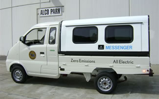 photo of Alameda County's electric messenger vehicle