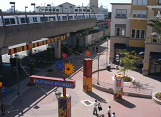 Photo of the Fruitvale Transit Village.