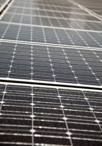 Photo of solar panels.