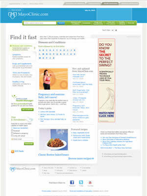 mayo clinic web site