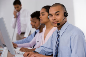 employees of a call center