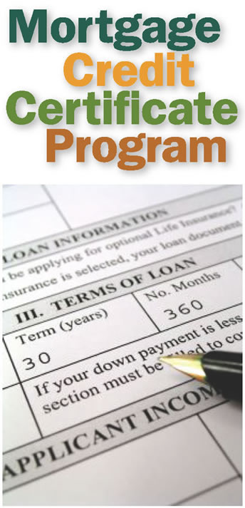 Mortgage Credit Certificate Program Graphic.