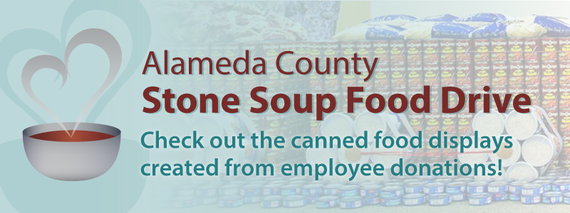 Click this banner to view descriptions, video, and photos from this years annual Stone Soup Food Drive and Design Competition