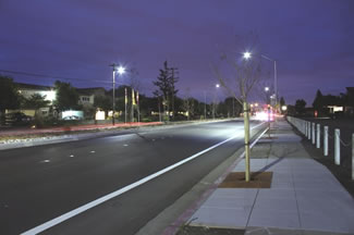 image of new streetlights.