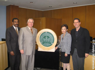 Photo of U.S. Green Building Council's LEED® Gold rating for the Juvenile Justice Center.