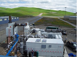 Photo of fuel cell plant at Santa Rita Jail.