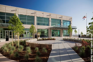 Photo of the exterior of the new Juvenile Justice Center.