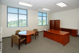 Photo of an office at the Juvenile Jusctice Facility